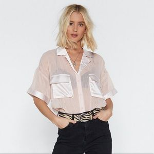 Nasty Gal Tops - Nasty Gal Sheer Top SZ M
